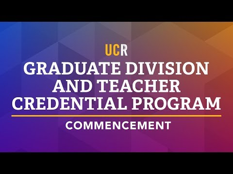 2018 UCR Commencement Ceremony - Graduate School of Education and School of Public Policy (видео)