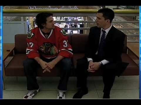 Pat Tomasulo Gets Agitated by Blackhawks Adam Burish Video
