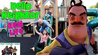 HELLO NEIGHBOR REAL LIFE ON A PLAYGROUND / That YouTub3 Family
