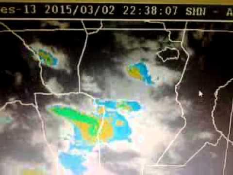 Imagen del satelite GOES 13 capta paso de fuerte tormenta en el norte cordobés.