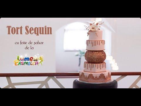Foite bronz pentru tort Sequin