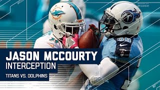 Jason McCourty Rips Ball Away for INT & Titans Score FG | Titans vs. Dolphins | NFL by NFL