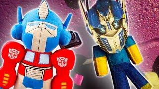 MINECRAFT PLUSHY ADVENTURE - OPTIMUS PRIME IS STEVE! (Transformers)