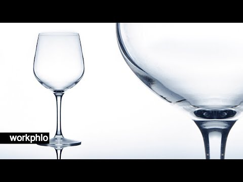 How to Photograph Glass   Glassware on White