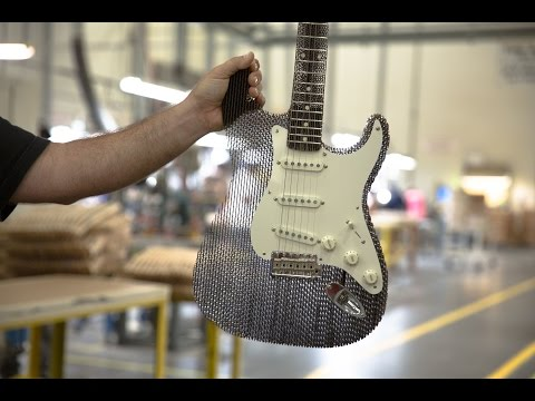 Fender Stratocaster made out of cardboard then tested by industry professionals.