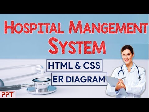 HOSPITAL MANAGEMENT SYSTEM || WEBSITE PROJECT || HTML & CSS || BLOCK & ER DIAGRAMS || Ppt