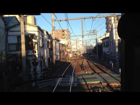 「西武池袋線準急 池袋→練馬」Cab view of Seibu-Ikebukuro line: Ikebukuro to Nerima (видео)