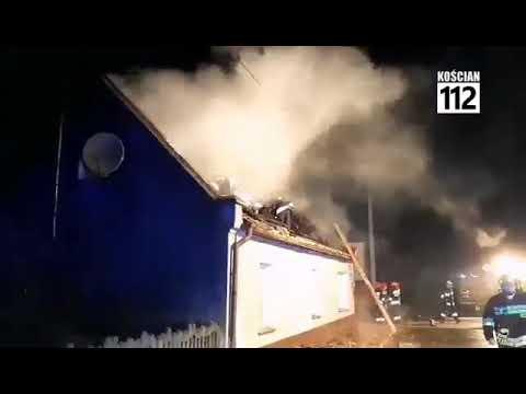 Wideo1: Pożar w Popowie Starym
