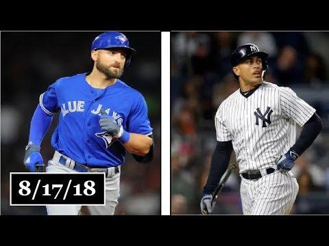 Toronto Blue Jays vs New York Yankees Highlights    August 17, 2018