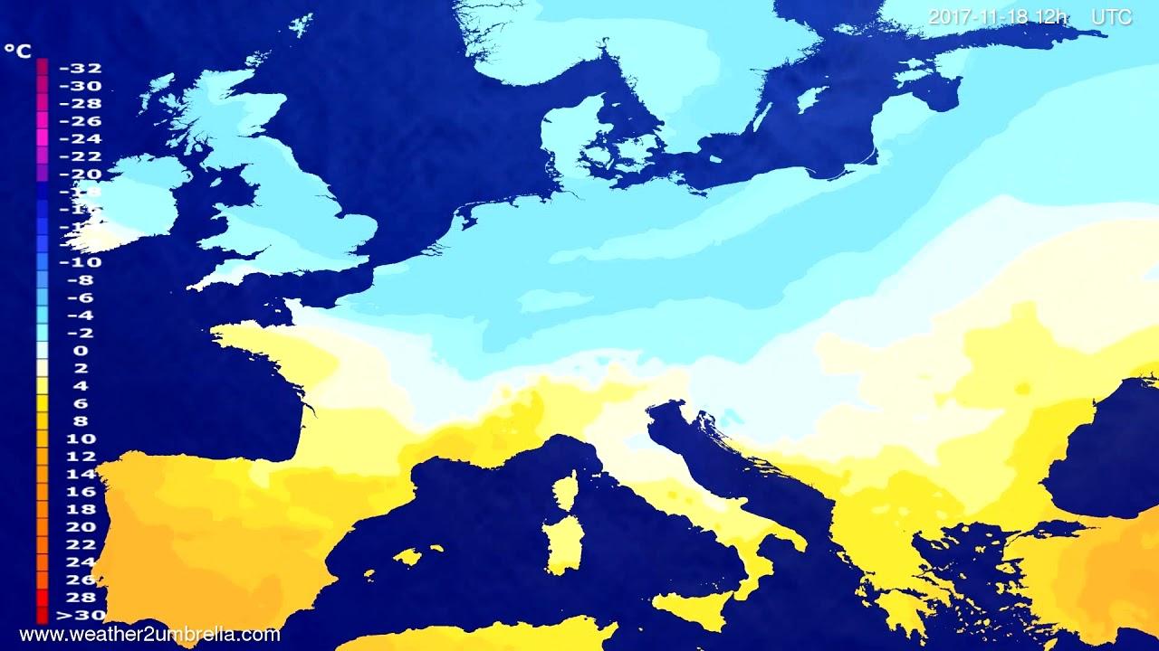 Temperature forecast Europe 2017-11-14