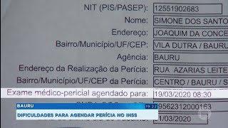 Bauru: dificuldades para agendar perícia no INSS