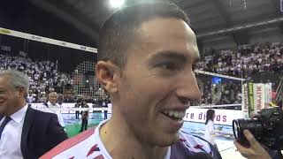 Sir Safety Perugia-Modena Volley 3-1: intervista a Rossini
