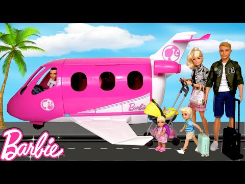 Barbie Baby Doll Lost in The Airport! - Family Airplane Travel Routine Video