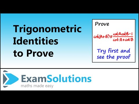 Trigonometrie Identities Zusatz Formeln (2): ExamSolutions