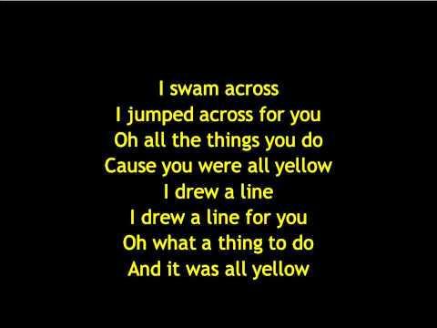 Coldplay Yellow Lyrics Letras Testo Songs Tube Net