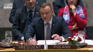 Wystąpienie Andrzeja Dudy na forum Rady Bezpieczeństwa ONZ
