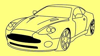 Nonton How to draw Aston Martin DB9  Fast and Furious 7 car - Как нарисовать Астон Мартин Film Subtitle Indonesia Streaming Movie Download