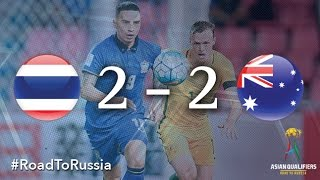 Two penalties from Mile Jedinak helped Australia to a 2-2 draw with Thailand at the Rajamangala Stadium in Bangkok on Tuesday though the AFC Asian Cup holder...