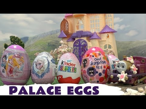 thomas - Disney Princess Sofia and Princess Amber look on at the Palace as Thomas and Friends Lady, adorned in Play Doh flowers, collects one Frozen Egg, one Hello Kitty Oeuf Surprise Egg, one Disney...