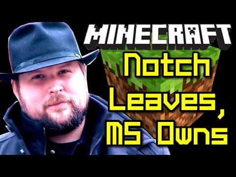 Minecraft News NOTCH LEAVES MOJANG & Microsoft Own Minecraft