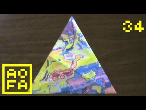 Tip 52-01 - How to make an Origami Equilateral Triangle