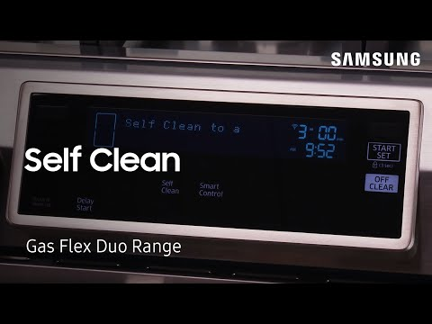 SAMSUNG SLIDE-IN GAS FLEX DUO RANGE WITH DUAL DOOR - SELF CLEAN [HOW TO]