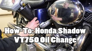 8. How-To: Honda Shadow VT750 Oil Change