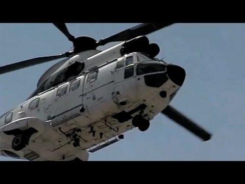 Slow motion Aerospatiale AS-332B1...