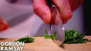 Gordon Demonstrates How to Finely Chop Fresh Herbs WITHOUT Staining the Chopping Board by Gordon Ramsay