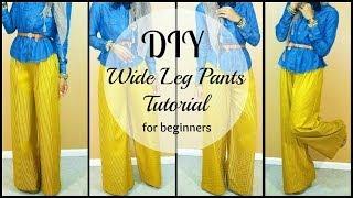 Video Nadira037 | DIY | How to Sew Wide leg Pants | For Beginners MP3, 3GP, MP4, WEBM, AVI, FLV Juli 2018