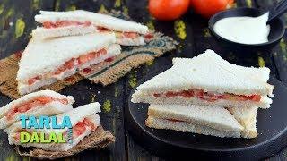 Tomato Cheese Sandwich, Kids Afterschool Recipe by Tarla Dalal