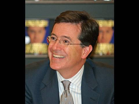 Stephen Colbert mystery man with the Olympic torch