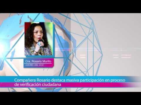 Compañera Rosario destaca masiva participación en proceso de verificación ciudadana