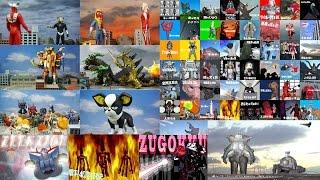 仮面ライダー ウルトラ怪獣図鑑 ガンダム JOJO 合成画像 ロケ ジオラマ 2 Kamen Rider Ultraman Mobile Suit Gundam Jojo