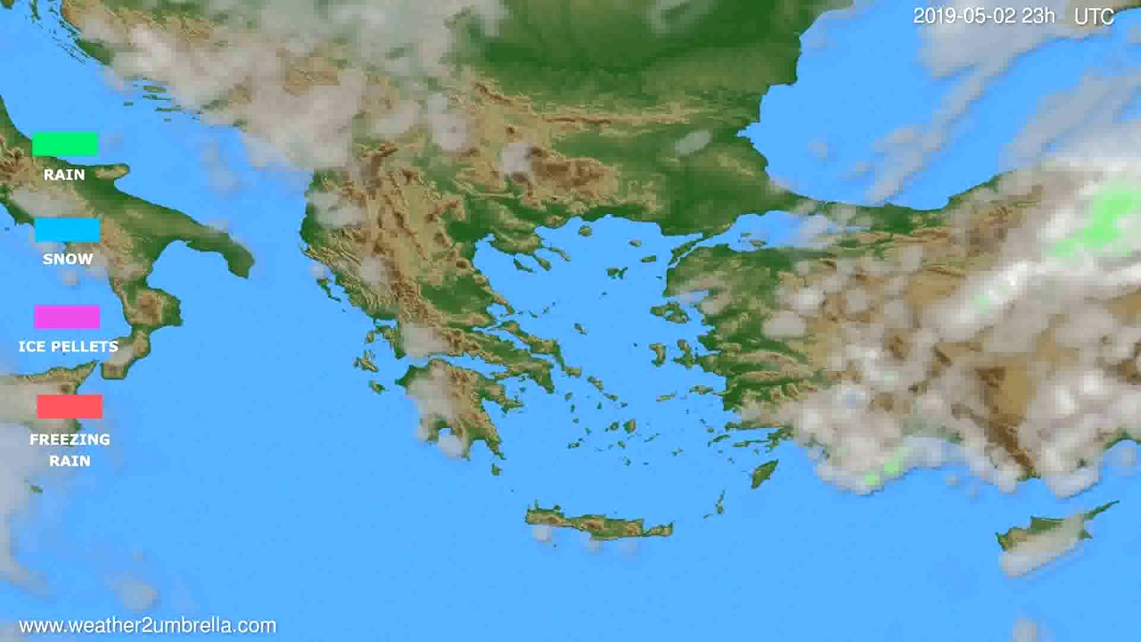 Precipitation forecast Greece // modelrun: 12h UTC 2019-04-29