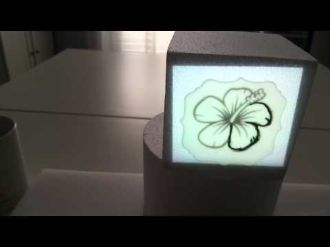 , title : 'Pico Projector Demo/Tutorial on a cake'