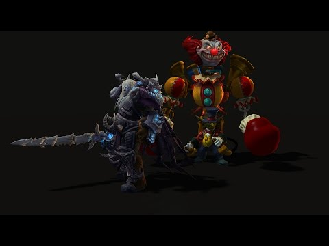 Preview - Heroes of the Storm is proud to present a sneak peek at two future skins: Frost Wyrm Arthas and Big Top Gazlowe. Facebook: http://facebook.com/BlizzHeroes Twitter: http://twitter.com/BlizzHeroes...