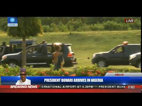 PRESIDENT BUHARI On His Way To Aso Rock With Heavy Convoy And Thousand Of Nigerians Celebrates