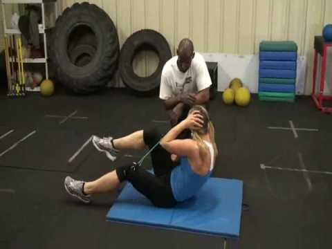 Womens fitness – abs and leg exercises for muscle toning and weight loss