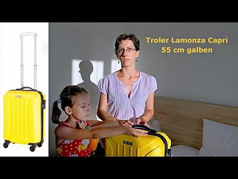 Prezentare Troler Lamonza Capri 55 Cm galben - bun pentru copii dar si pentru adulti