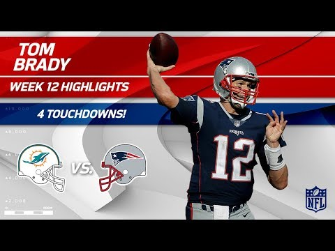 Video: Tom Brady's Big Game w/ 4 TDs vs. Miami! | Dolphins vs. Patriots | Wk 12 Player Highlights