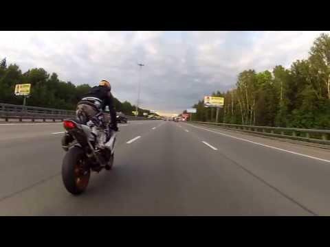 BMW HP4 and Suzuki GSX-R 1000 Киевка-Ленинский