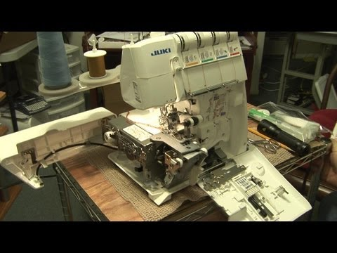 Juki MO-735 Serger-Right Out Of The Box Demo