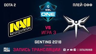 Natus Vincere vs Mineski, ESL One Genting, game 3 [Adekvat, LighTofHeaveN]