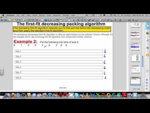 Verpackung Algorithmen - First-fit (fallend) Algorithmen (Beschluss Maths 1)