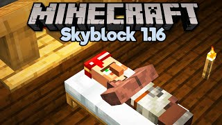 Building a Villager Hotel in Skyblock! • Minecraft 1.16 Skyblock (Tutorial Let's Play) [Part 14]
