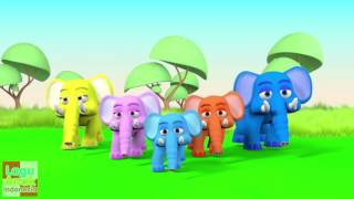 Jari Jariku - GAJAH 3D  (Elephant Finger Family Song) | Lagu Anak Indonesia
