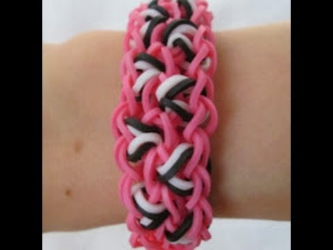 Rainbow Loom- How to make a Leopard Spot Bracelet (Original Pattern)