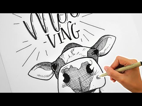 Cow Drawing | Letter With Me: Get MOOving