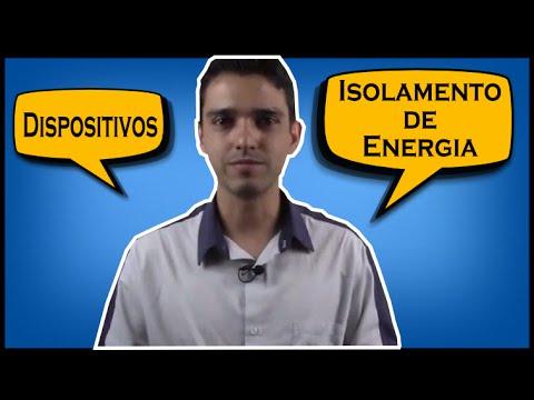 Descrição dos tipos de dispositivos de isolamento de energia para o Controle de Energias Perigosas (LOTO).